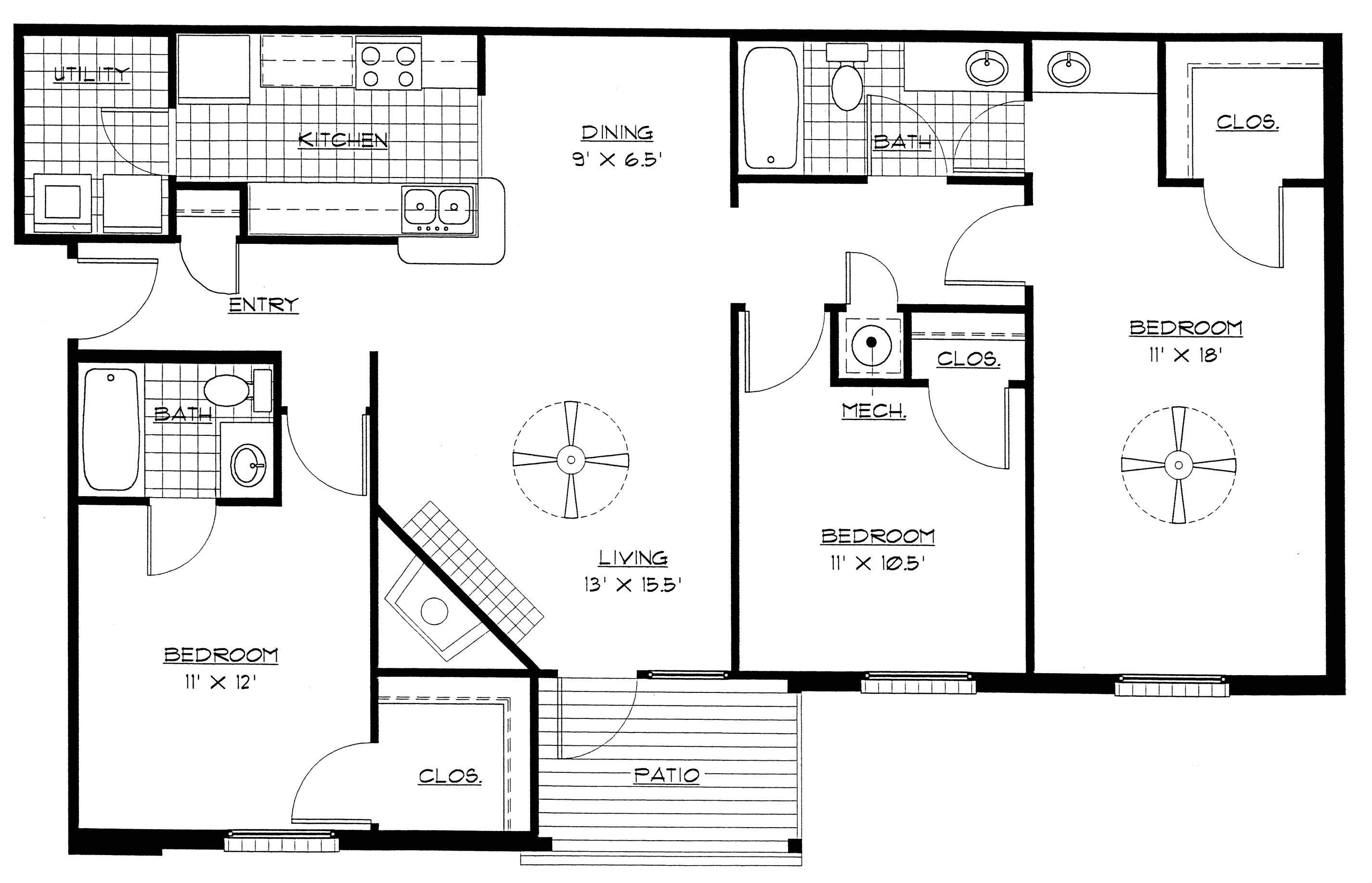 best 3 bedroom floor plan