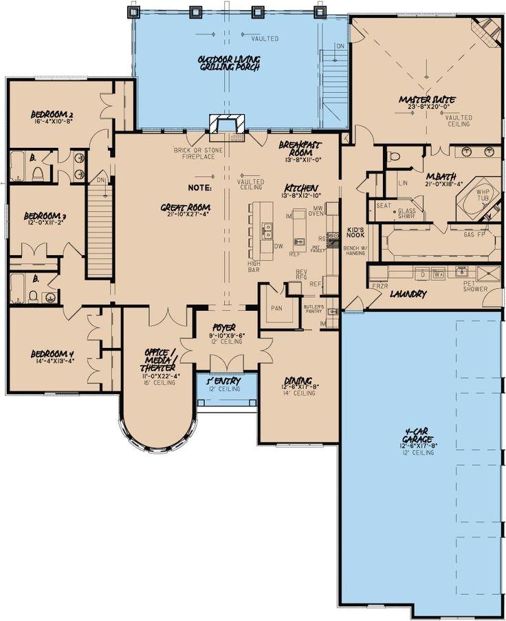 home floor plans with indoor sport court
