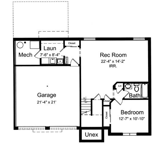 split level house plan 39197st