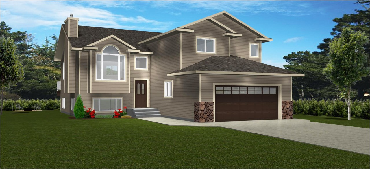 bi level floor plans with attached garage