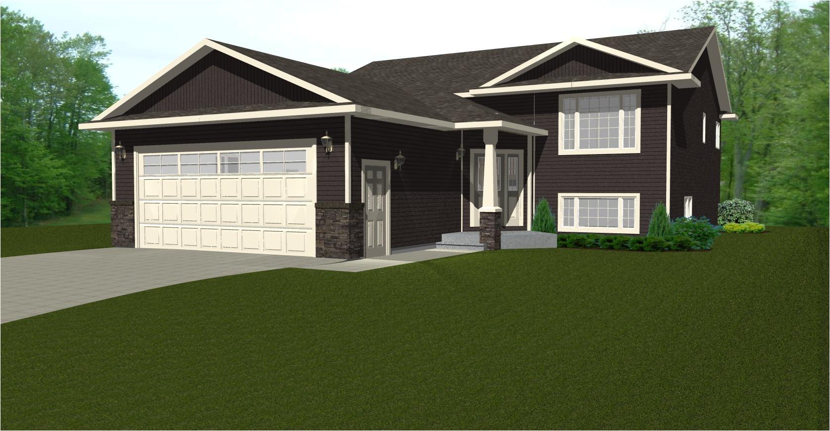 bi level house plans garage