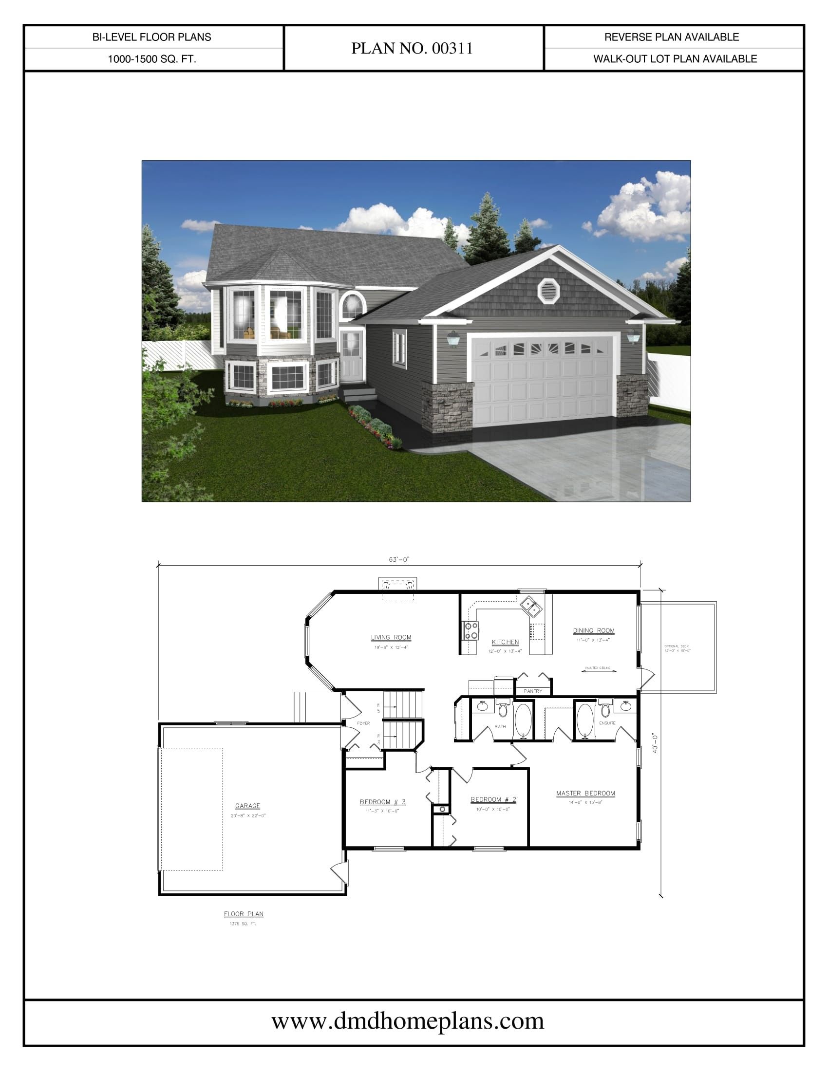bi level house plans with garage