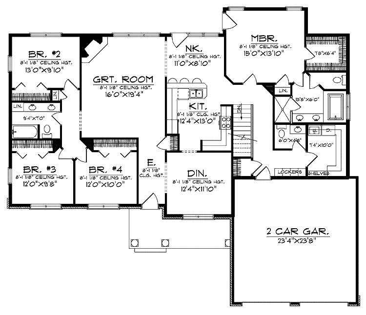 floor plans for large family home
