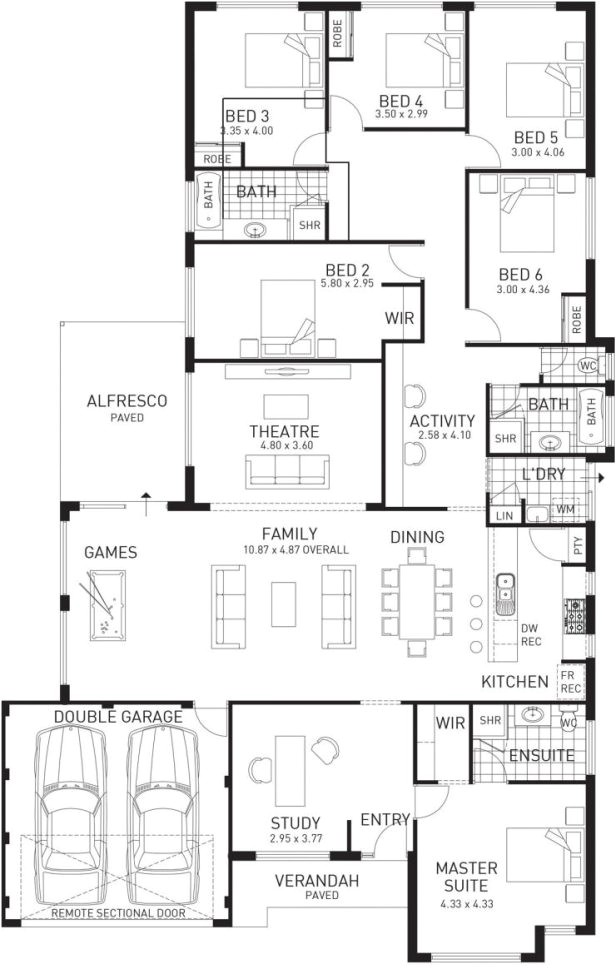 large family floor plans