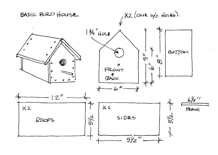 simple bird house plans home design ideas