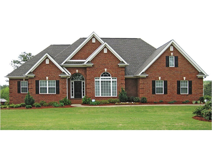 Brick Homes Plans Traditional Brick Ranch Hwbdo New American