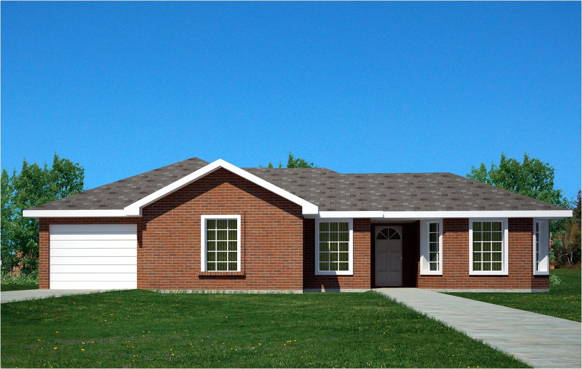 brick ranch home 61034ks