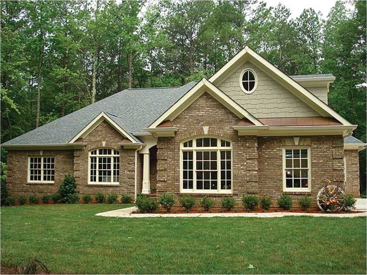 brick small ranch house floor plans