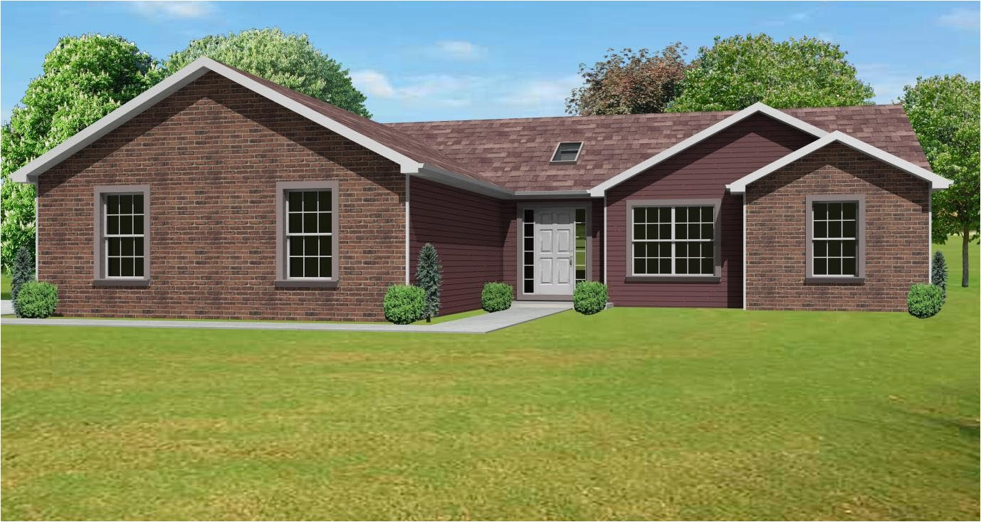 large red brick ranch house