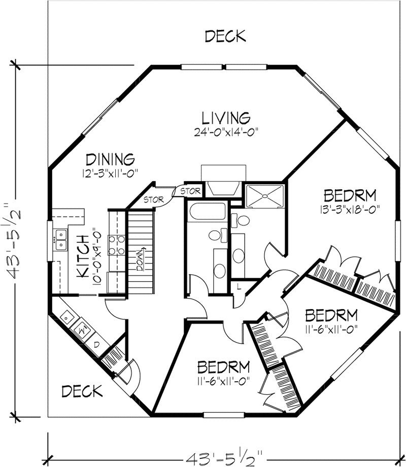 modern house plan in cad