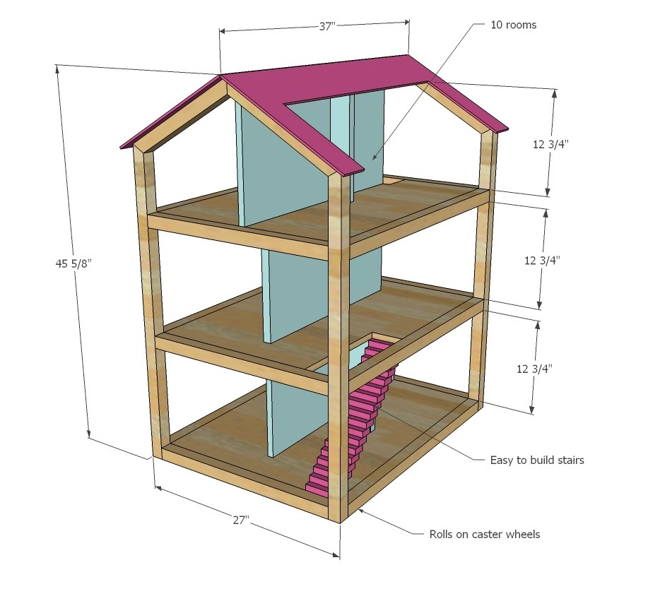 18 inch doll house plans luxury build american girl dollhouse plans diy wood projects jigsaw