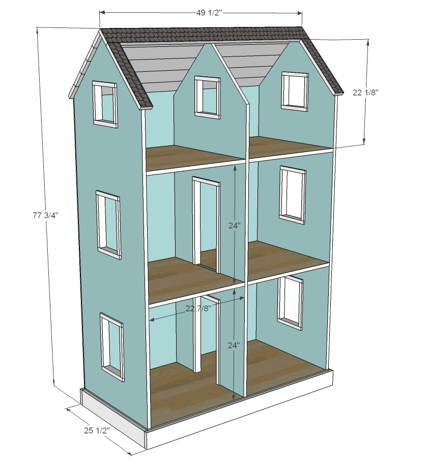 building plans for 18 inch doll house