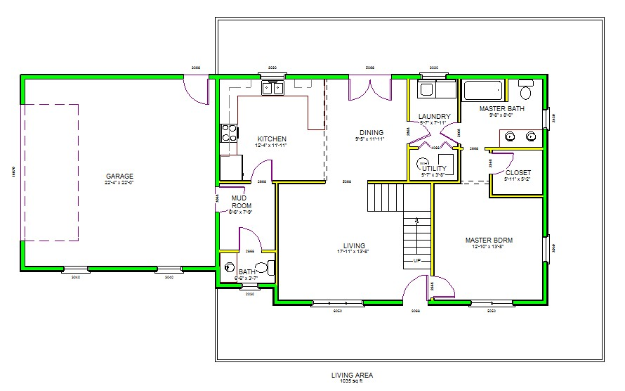 autocad house plans floor 3