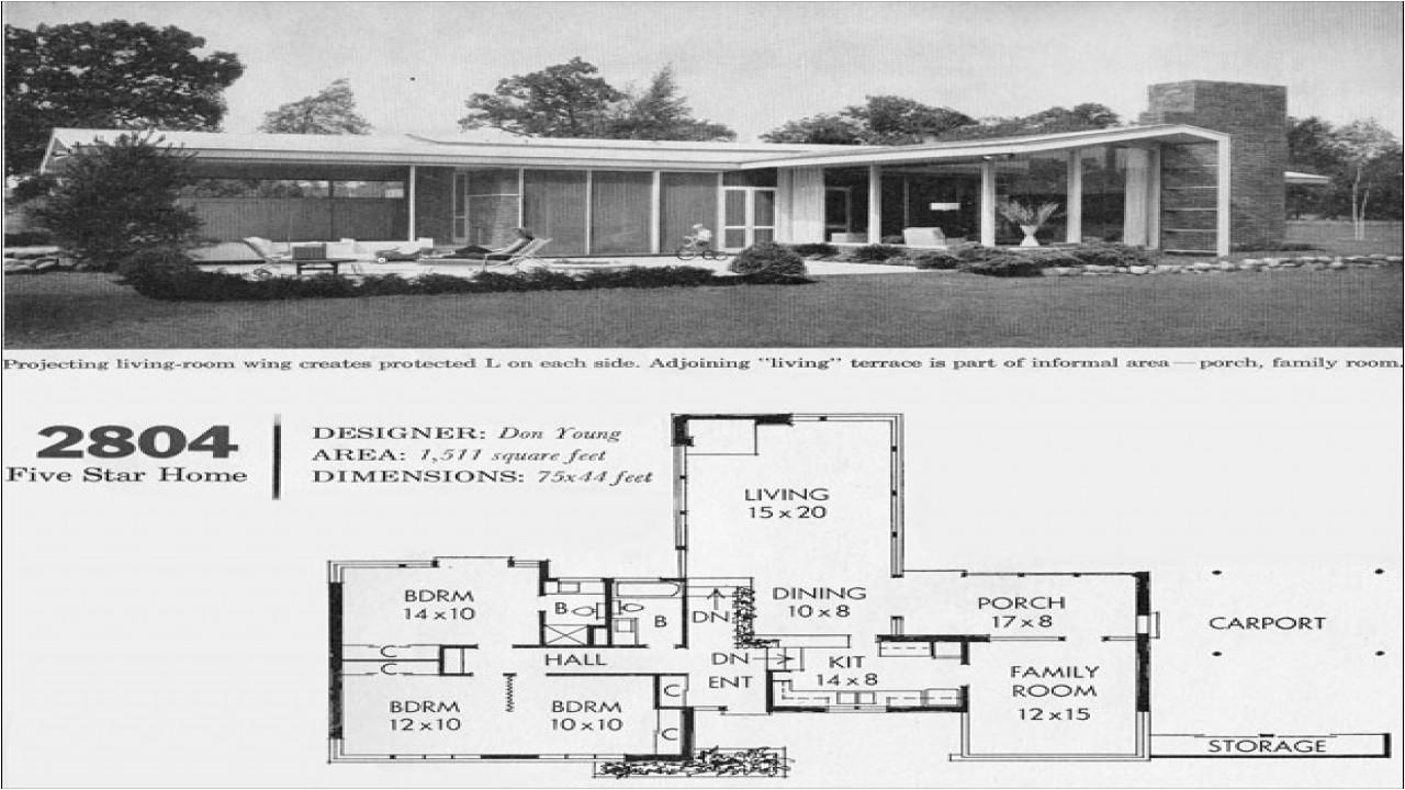 California Modern Home Plans Mid Century Modern House Floor Plan Mid Century Modern