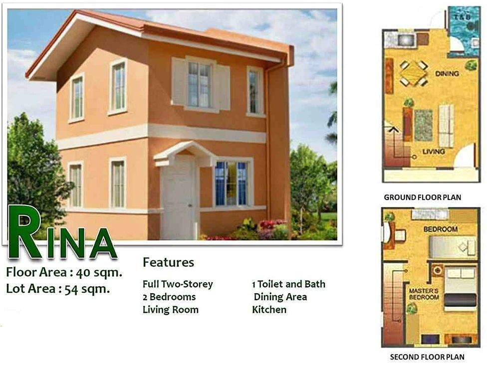 camella homes design with floor plan