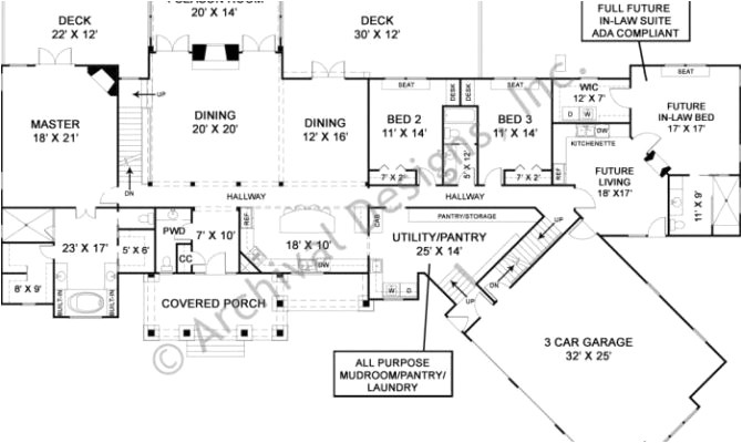 6 bedroom house plans with inlaw suite