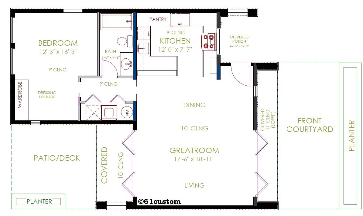 casita modern small house plan