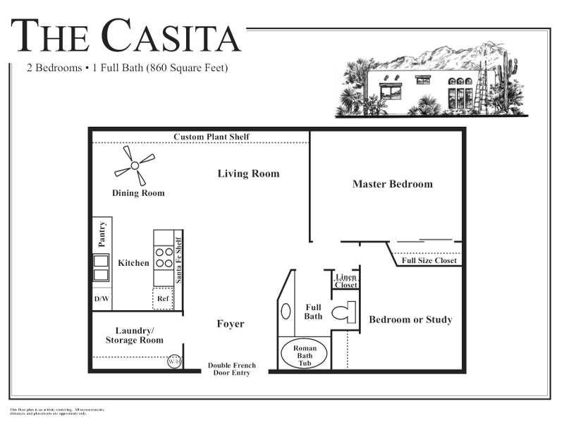 guest house floor plans the casita