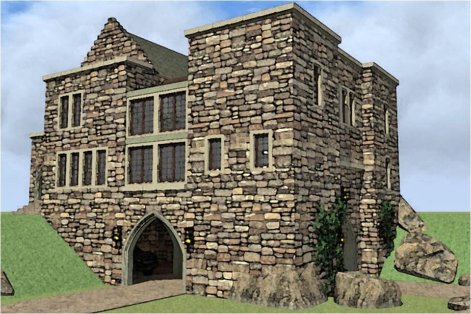 house plans small castle