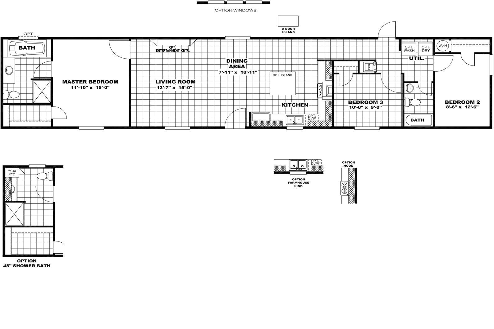 2004 cavalier mobile home floor plans