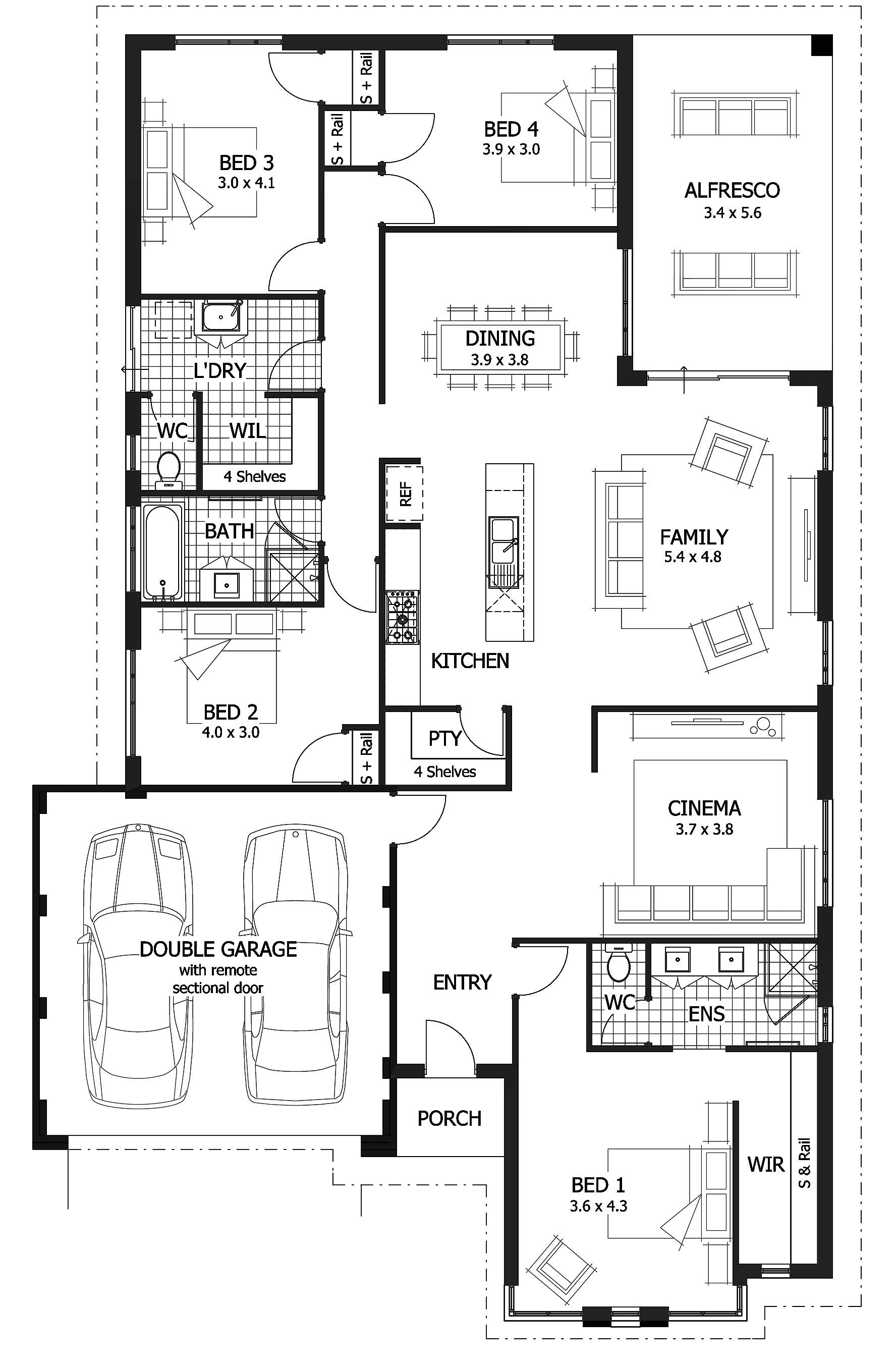 home designs plans under 200000