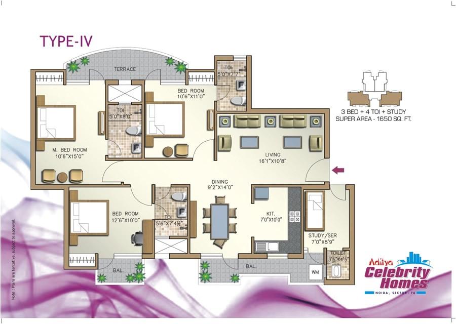 Celebrity Homes Floor Plans Aditya Celebrity Homes In Noida Noida by Agarwal