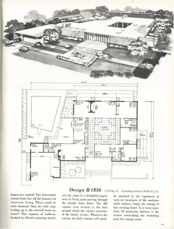 vintage house plans new and refreshing mid century contemporary