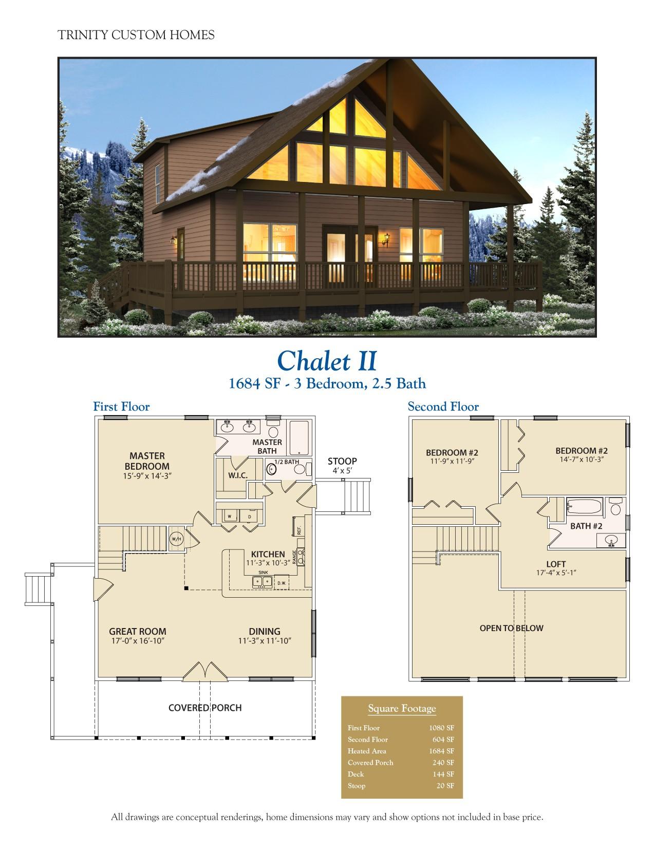 Chalet Home Floor Plan Floor Plans Trinity Custom Homes Georgia