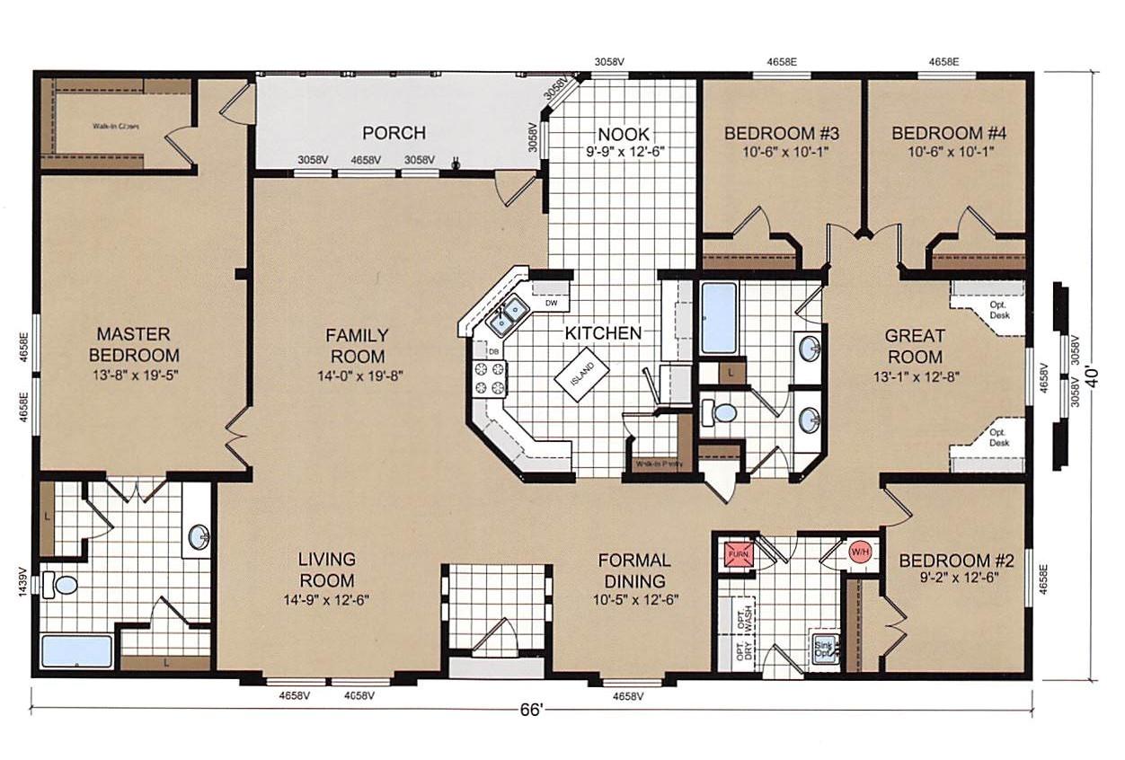champion mobile home floor plans luxury 4 bedroom double wide mobile home floor plans trends including