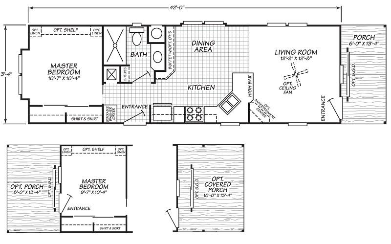 champion single wide mobile home floor plans