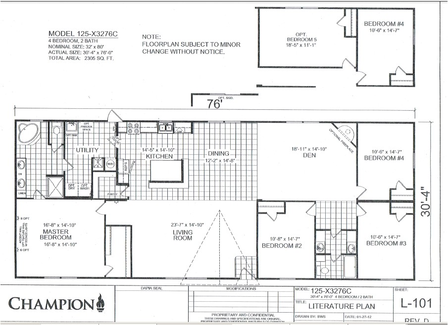 champion homes double wides
