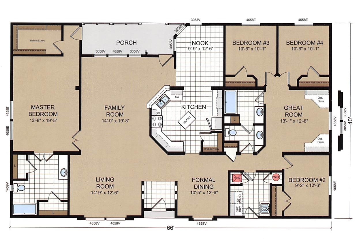 champion mobile home floor plans luxury 4 bedroom double wide mobile home floor plans trends including