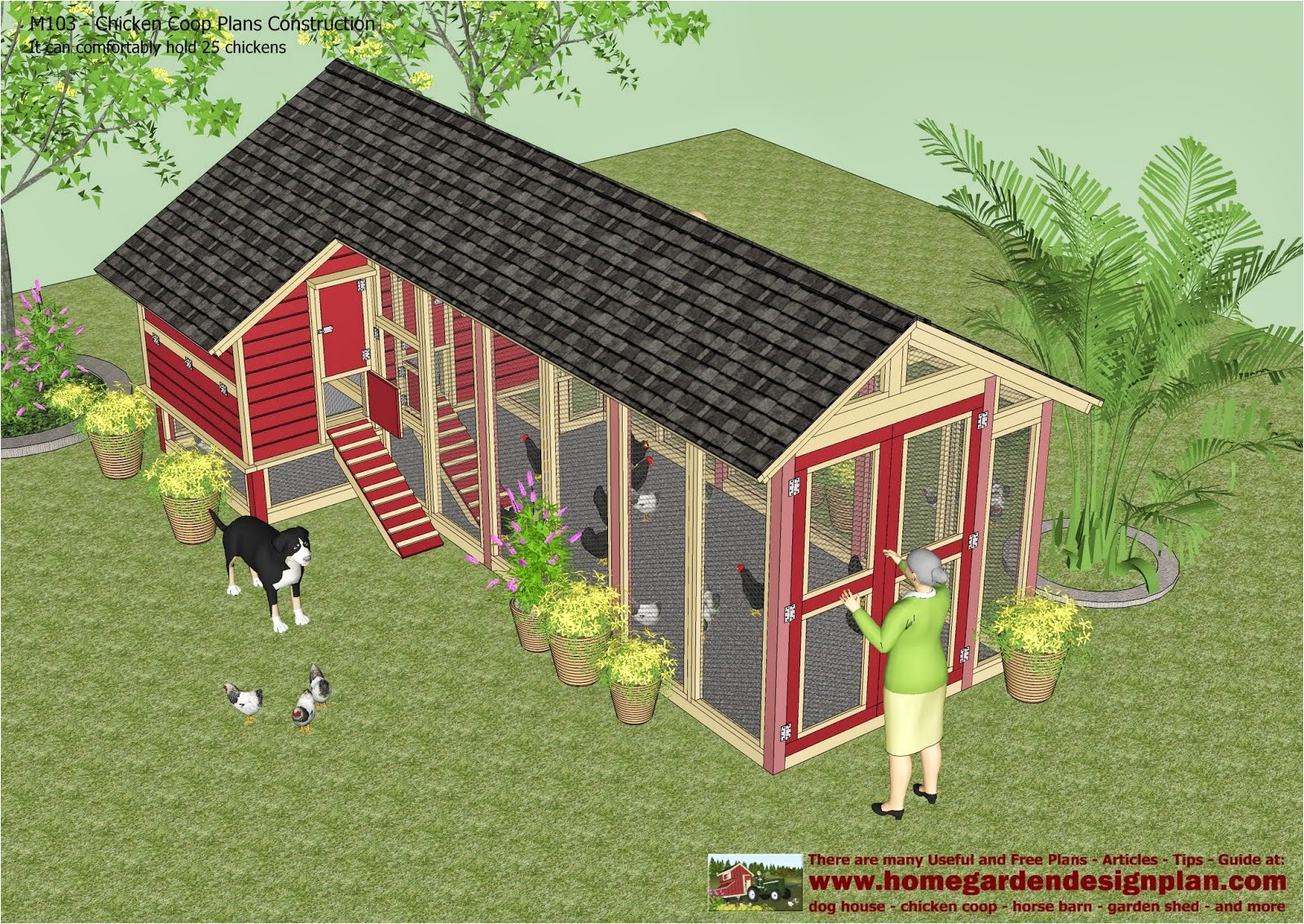chicken coop plans for 20 chickens