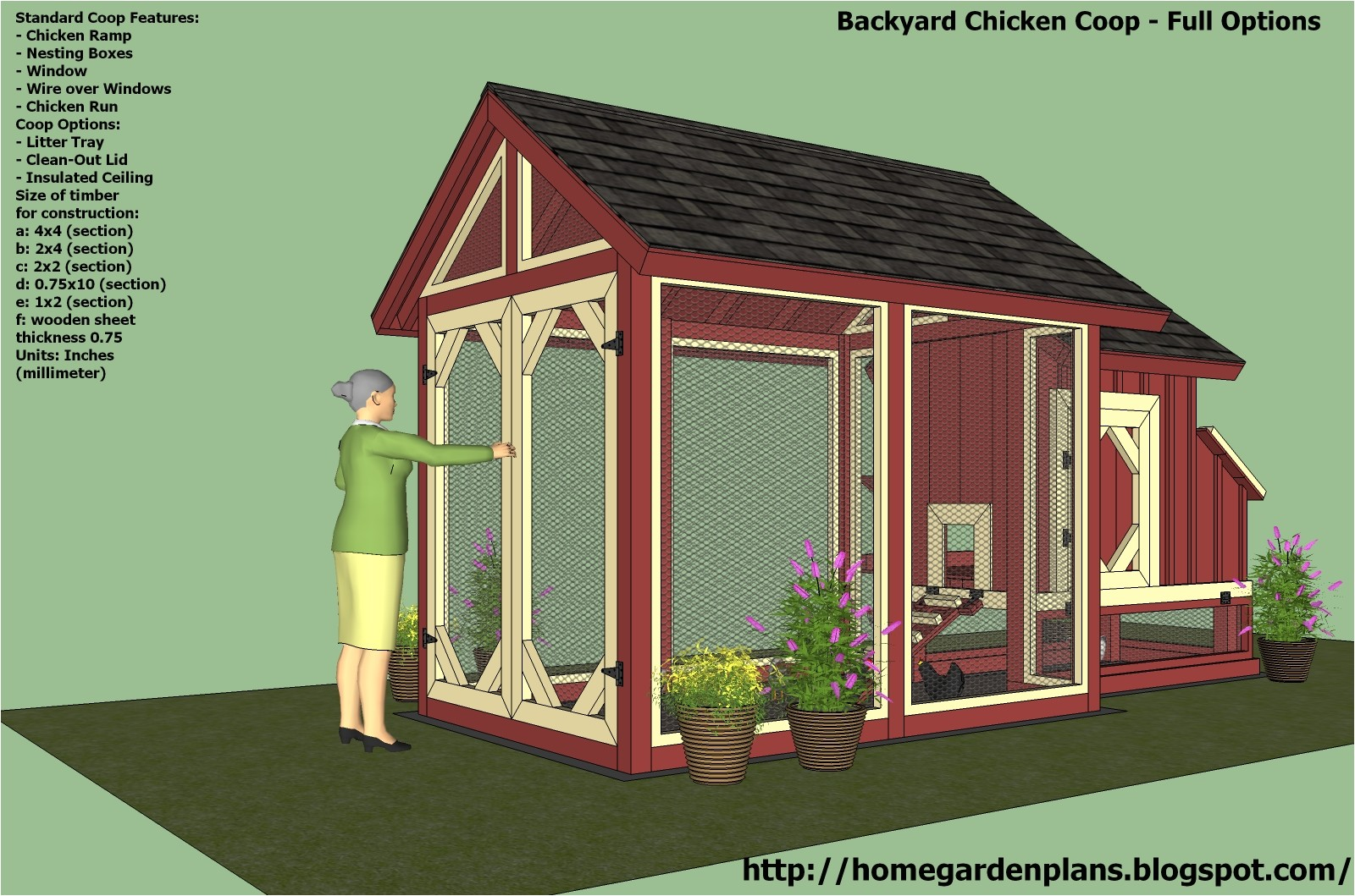 chicken house plans for 20 chickens