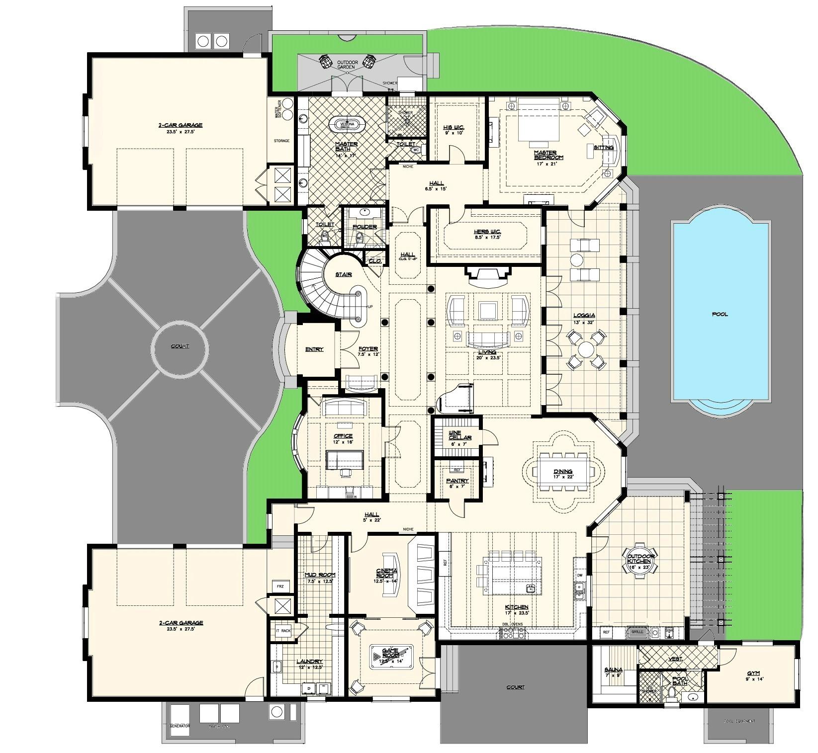 custom builder floor plans