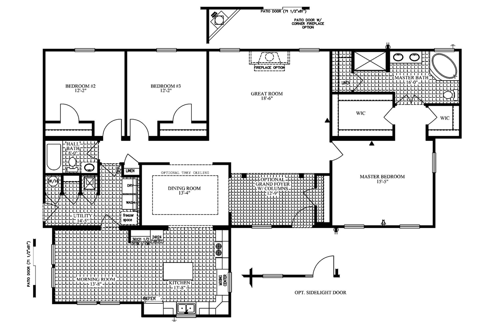 manufacturedhomefloorplan floorplan 3187 state va city fieldale