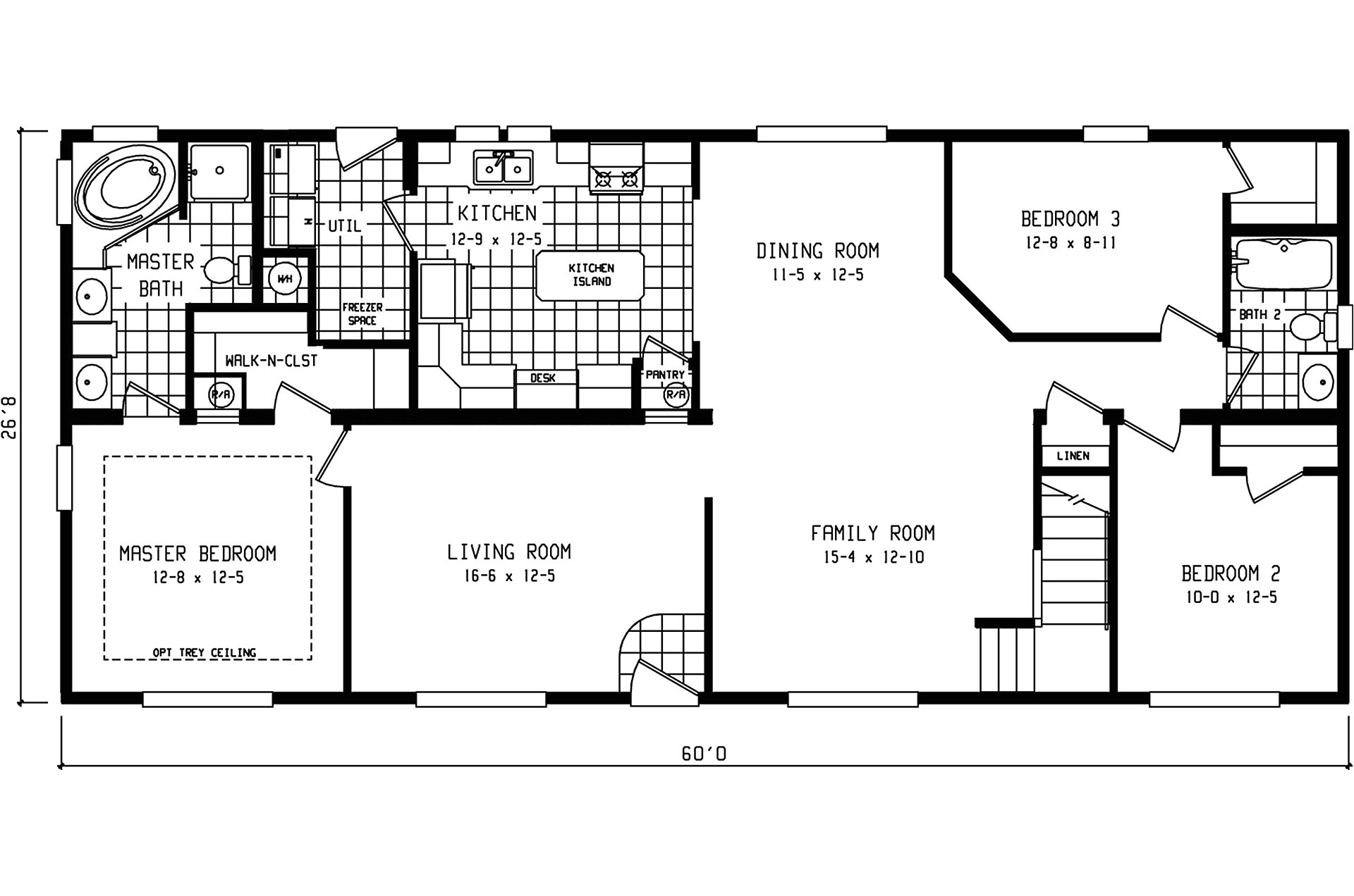 Clayton Manufactured Homes Floor Plans Manufactured Home Floor Plan 2006 Clayton 2750
