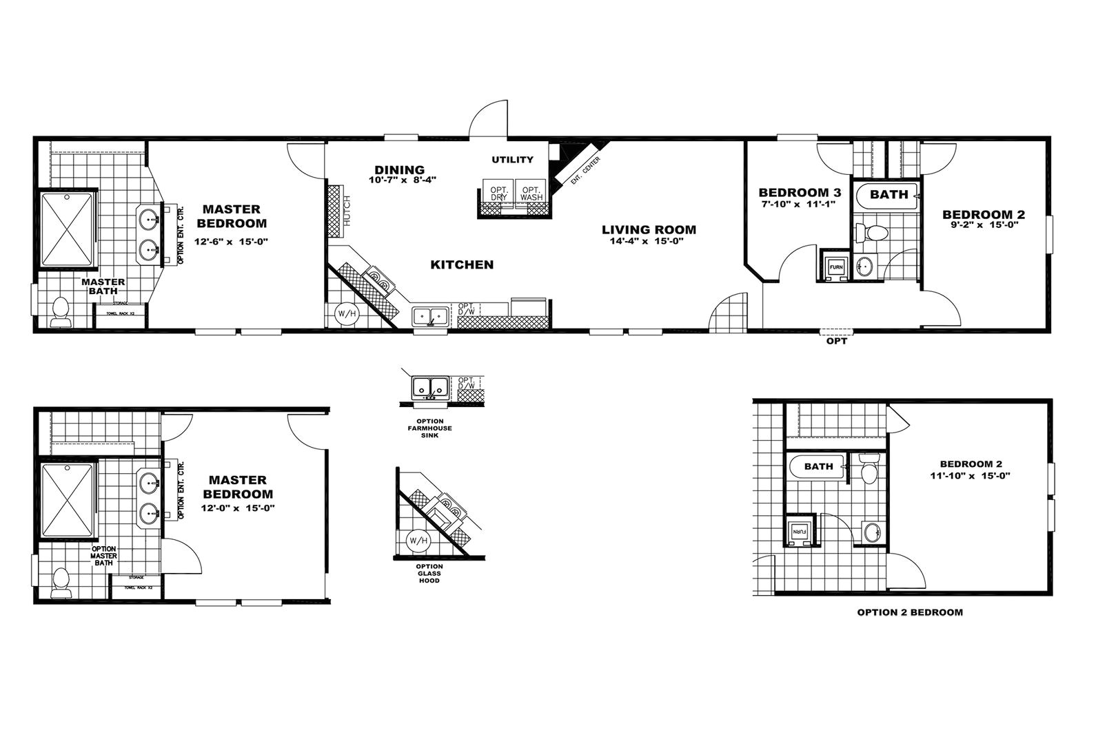 2008 clayton mobile home floor plans