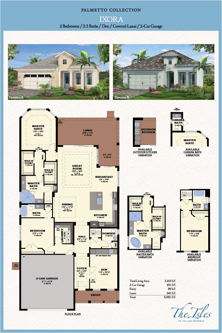 collier preserve single family floor plans