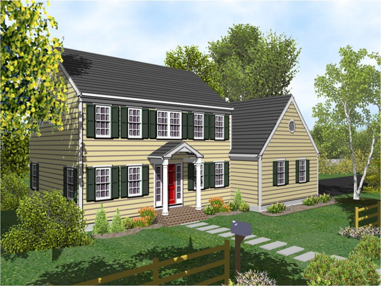 two story colonial house plans