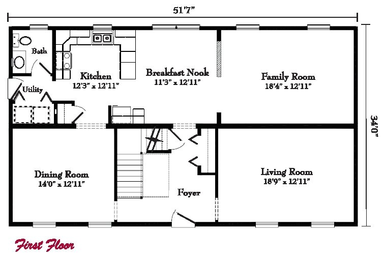 Colonial Style Home Floor Plans Colonial Style Homes Floor Plans Modular Gbi
