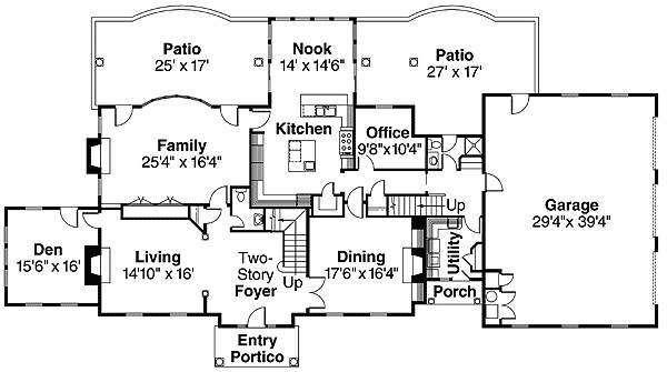 colonial style house plan with contemporary amenit 72069da