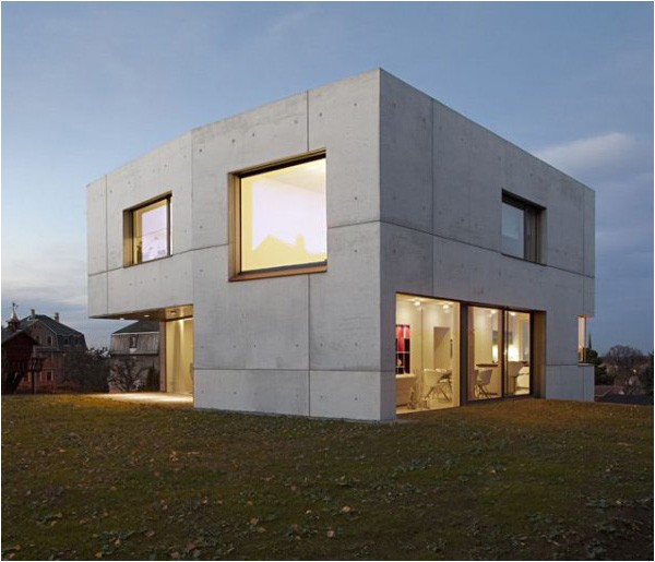 Concrete Homes Plans Concrete Home Designs Minimalist In Germany Modern