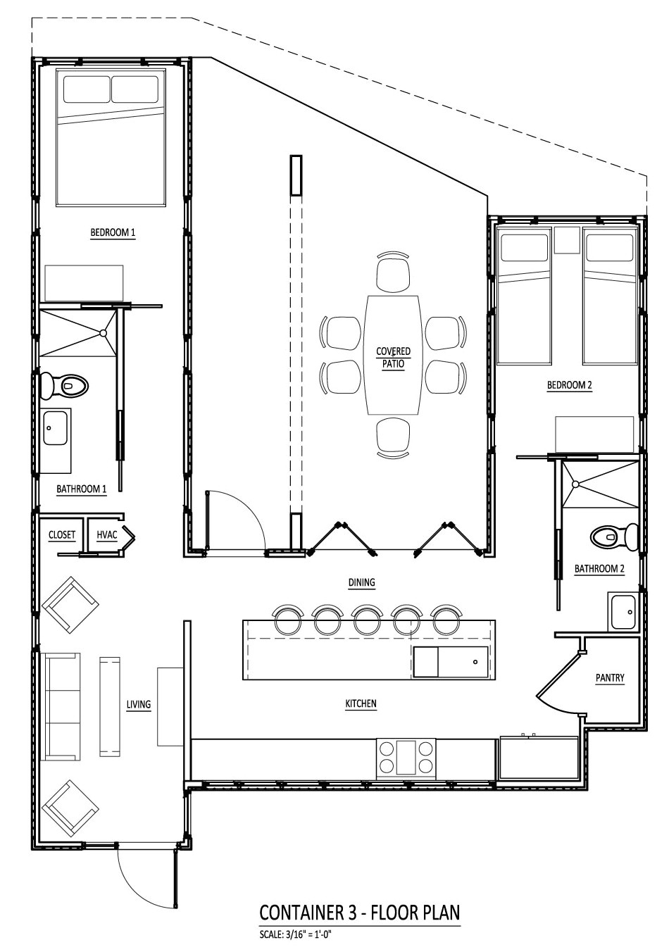Container Homes Floor Plan Sense and Simplicity Shipping Container Homes 6