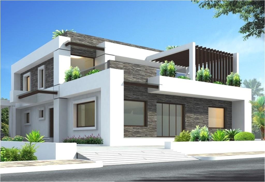contoh desain rumah 3d dengan tampilan elegan dan modern