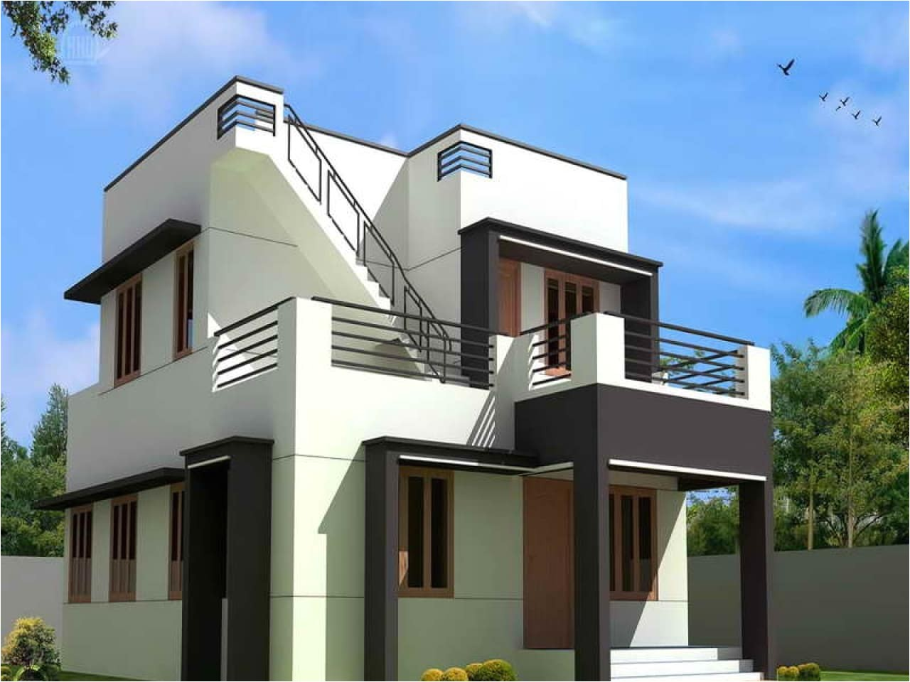 simple modern house plans free