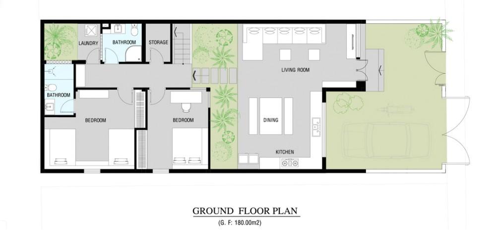 modern home floor plan