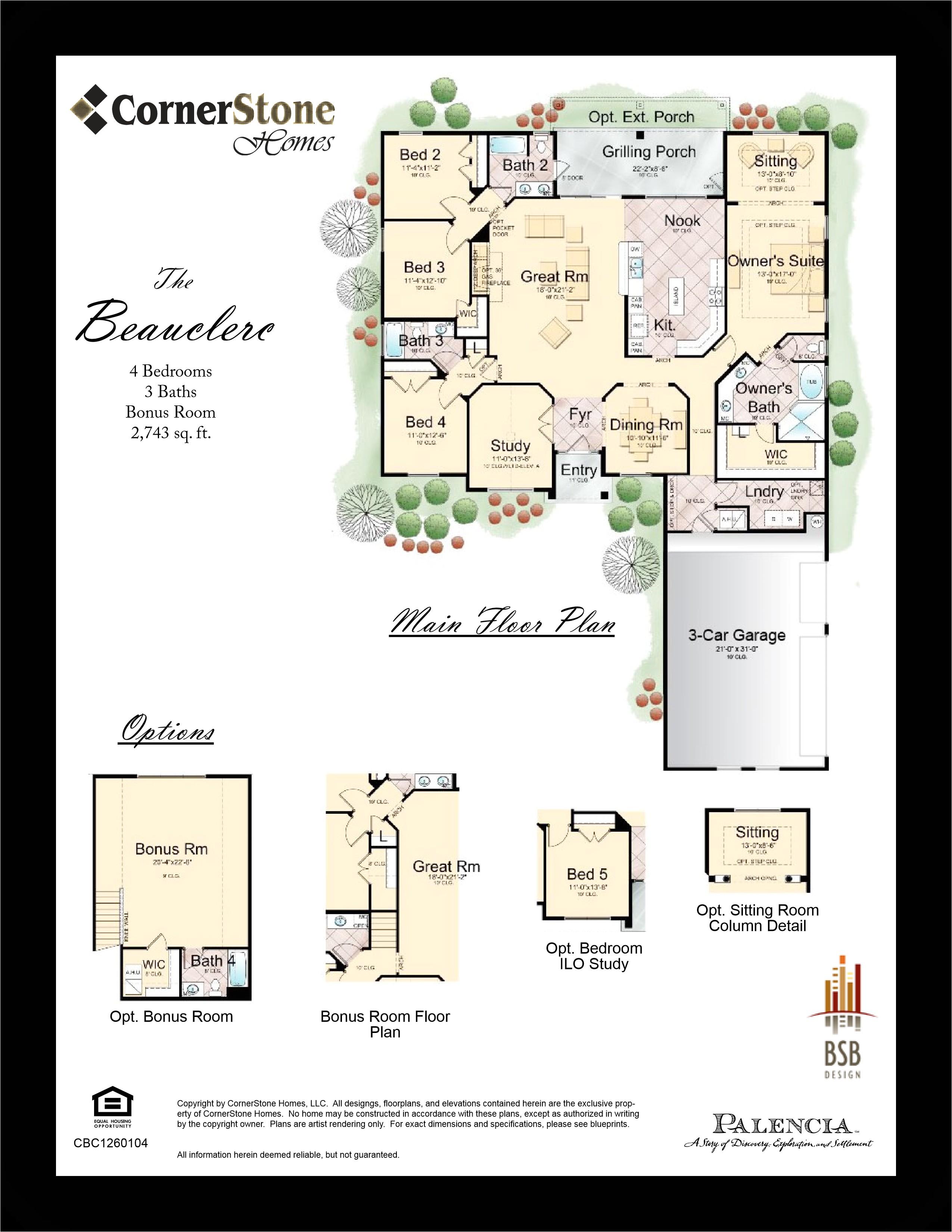 cornerstone homes floor plans