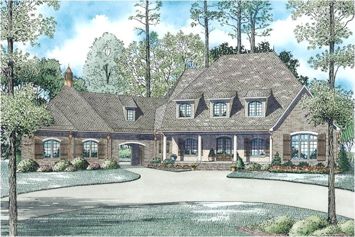 porte cochere home plans