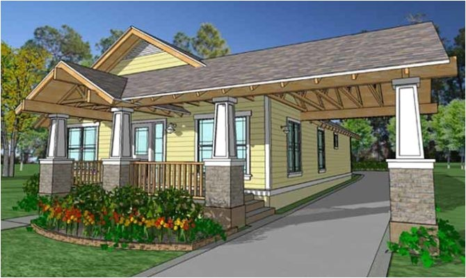 simple cottage house plans with porte cochere placement